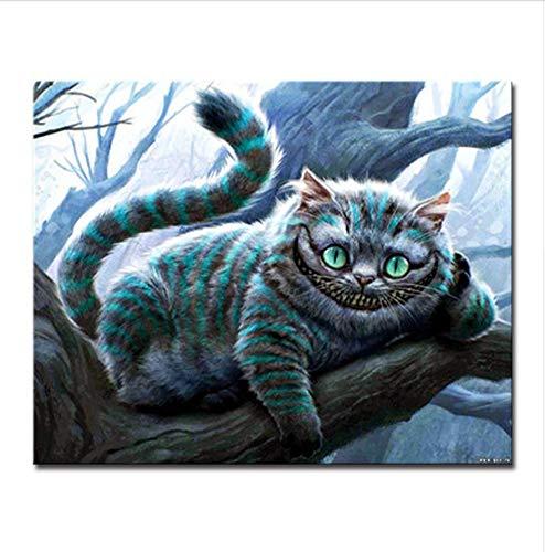 XIGZI 40x50 cm Ohne Rahmen by Zahlen DIY kit handgemalte große Katze Bilder färbung auf Zeichnung leinwand Tier Wohnzimmer Wand-dekor