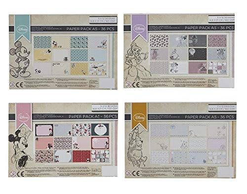 Disney Scrapbook Papier-Packung A5 Bastelblöcke Folien-Block verschiedene Designs Mickey Mouse 36pcs