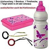 Fizzii Trinkflasche und Brotdose Schmetterling