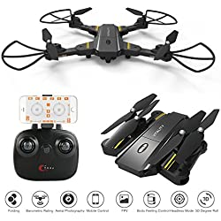 AMILE Drone99 2 MP Gran Angular Plegable RC Quadcopter WiFi FPV Altitude Hold 2,4 G 6 Ejes Gyro Sensor de Gravedad Drones, Unisex Youth, 23 x 17 x 12 cm