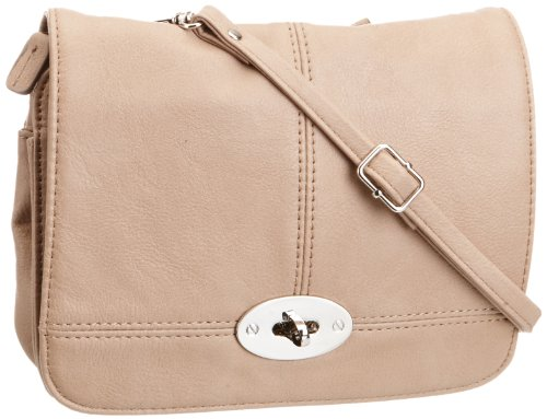 Gabor BADIA Handtasche 6488 20 Damen Henkeltaschen 20x16x3 cm (B x H x T), Beige (beige 20) (Clutch Colorblock)
