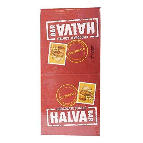 Cypressa | Chocolate Almond Halva Bar | 2 x 24 x 40g