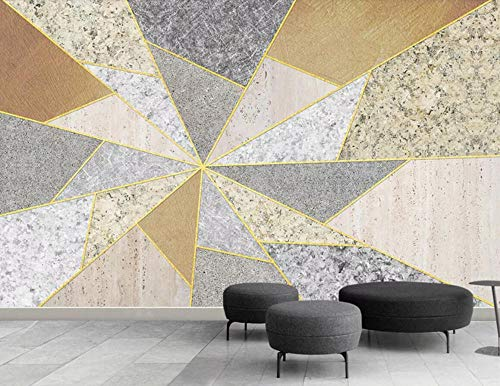 Carta Da Parati Muro 3D Semplice Puzzle Geometrico Fotomurali Murale 3D Moderni