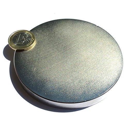 Super aus Neodym Magnet Scheibe 90x 10mm. Leistung 350kg Magnetfeldtherapie 4000Gauss Wasser angesaugt