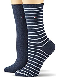 Tommy Hilfiger TH WOMEN SMALL STRIPE 2P - Calcetines para mujer