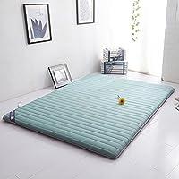 DULPLAY Algodón Primeros del colchón,Tatami de algodón abajo Suave Plegable Estudiante 6cm de grosor