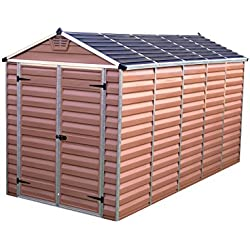 Palram SkyLight Shed 6x12ft Durable Storage - Amber
