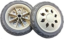 2 x Quality Replacement Spare Wheels for Shopping Trolleys and Carts