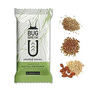 Insekten Riegel 'Bug-Break', 3 Energieriegel (3 x 36g) I essbare Insekten zum Essen