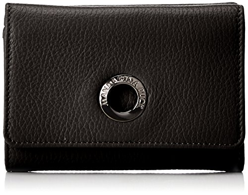 Mandarina Duck Mellow Leather Portafoglio, Donna, Nero, 3x10x14.5 centimeters (B x H x T)