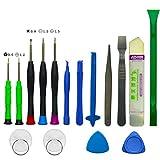H&Y TECH 16 in 1 Universal Haushalt Werkzeugkoffer Schraubenzieher Set Reparatur Tool Werkzeug Set für iPhone 7/6S/8/5S iPad iPod Smartphone oder Kleingeräte
