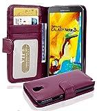 Cadorabo Hülle für Samsung Galaxy Note 3 NEO - Hülle in Bordeaux LILA - Handyhülle mit 3 Kartenfächern - Case Cover Schutzhülle Etui Tasche Book Klapp Style