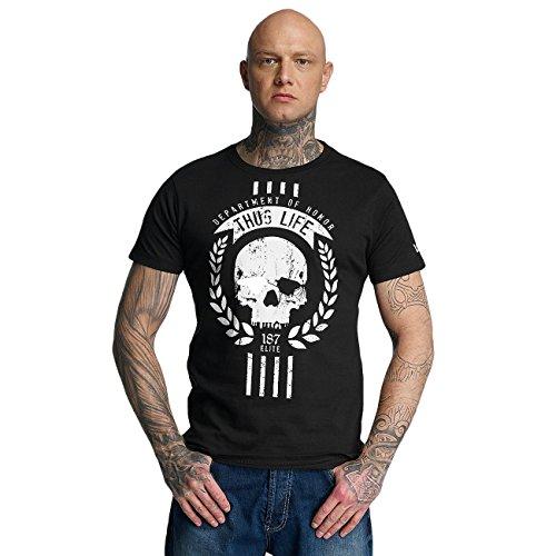 Thug Life T-shirt (Thug Life Herren Oberteile/T-Shirt Elite Schwarz L)