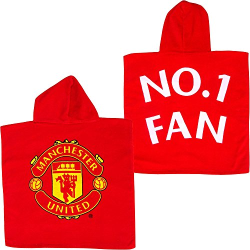 Official Manchester United Super Soft Cotton Hooded Poncho Bath Towel