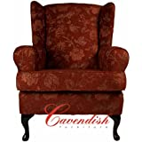 """LUXURY ORTHOPEDIC HIGH SEAT CHAIR in FLORAL TERRACOTTA FABRIC 21"""" Seat Height"""