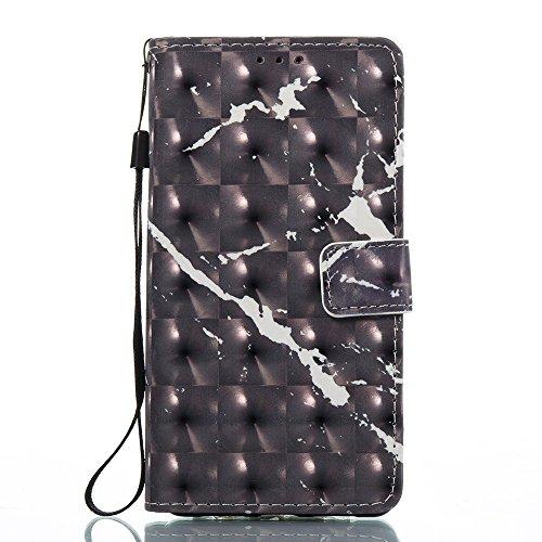 Marmor Stein Grain Texure Pattern PU Ledertasche Cover, Retro Bookstyle Flip Stand Case mit Magnetverschluss & Card Slots & Lanyard für HUAWEI P9 Lite ( Color : F ) D