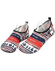 Erwachsene Strand Tauchen Schuhe Laufband Schuhe Sandalen Schwimmen Schuhe Red und Blue Stripes