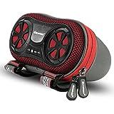 Excelvan AMK-K95-02B Haut-parleur à Vélo Amplifiée sans Fil Case Enceinte Bluetooth Rechargeable pour Smartphone MP3 3,5mm Jack - Rouge