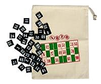 Nummerierte Zahlensteine mit Beutel zum Zuziehen, 1-100, Bingo