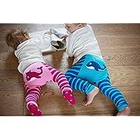 Lama e rosa balena blu Leggings
