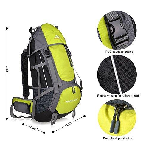 Imagen de macbag  de excursión resistente al agua daypack 40l 55l para camping, trekking y escalada amarillo, 55l  alternativa
