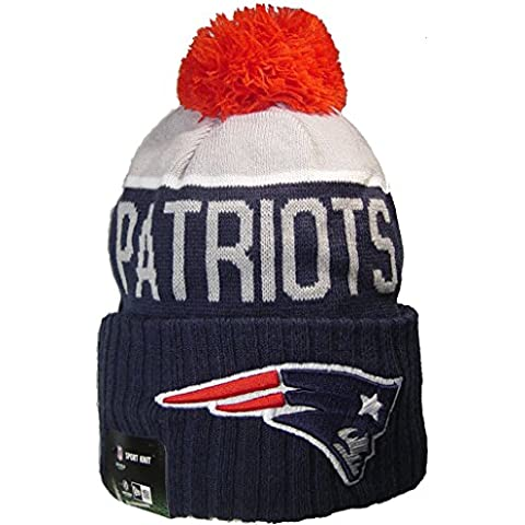 New England Patriots-Berretto in jersey lavorato a maglia
