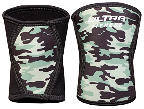 ULTRA FITNESS Knee Sleeves Pair Support for Weightlifting, Squat Gym Workout (Camouflage, M)