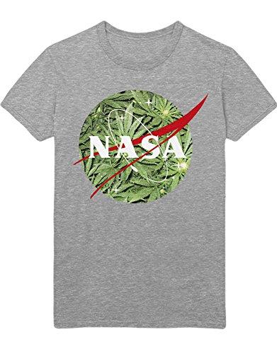 Hypeshirt T-Shirt NASA Logo Weed K123455 Grau