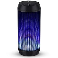 LED Bluetooth Lautsprecher von MUBYTREE, Bringen Sie besseres Audio-visuellen Erlebnis  · Hervorragende Klarheit und verzerrungsfreier Klang  · Tragbare Größe & einfach zu tragen  · Freisprecheinrichtung mit dem eingebauten Mikrofon  · Verbindet ...