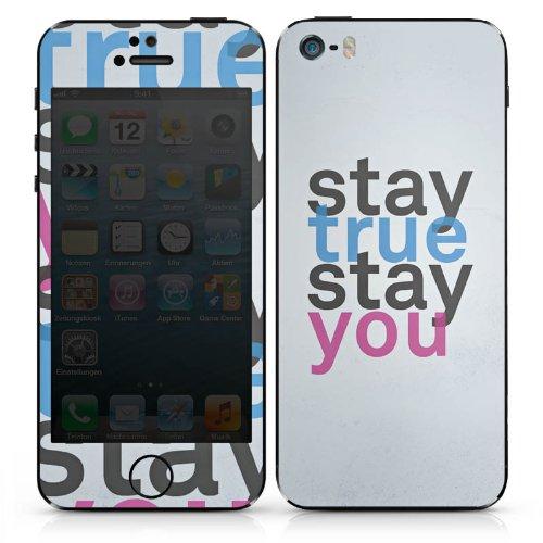 Apple iPhone 4s Case Skin Sticker aus Vinyl-Folie Aufkleber Sprüche Motivation Statement DesignSkins® glänzend