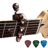 Asmuse™ Skeleton Kapodaster für e Gitarre Westerngitarre Akustische Elektrische Klassische Folk Ukelele Bass Instrument guitar Capo Licht Schnellwechsel Aluminiumlegierung Einzelne Hand Capodaste