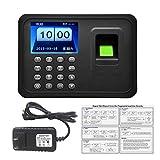 Jiobapiongxin Biometrische A6 2,4-Zoll-TFT-USB-32-Bit-CPU-Fingerprint-Zeiterfassung Machine Clock Record NoNeed-Software JBP-X