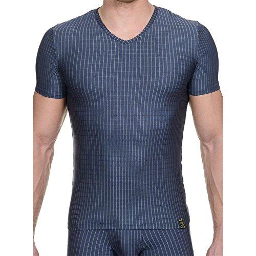 Bruno Banani V-Shirt Concrete 2204-1462 1847 Stahl / Lime Stripes