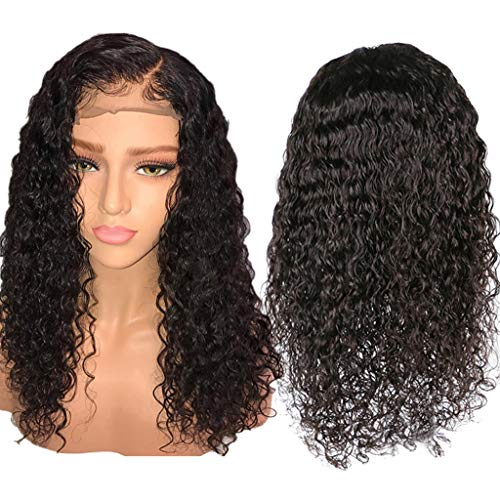MCYs Perücken Echthaar Human Hair Wigs Deep Curly Wave Brazilian Virgin Hair Lace Front Wigs Pre Plucked Hairline -