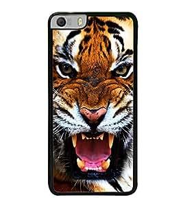 PrintVisa Roaring Tiger High Gloss Designer Back Case Cover for Micromax Canvas Knight 2 E471