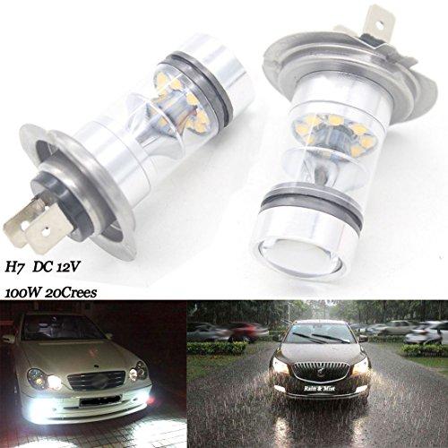 LED H780W/100W 12V/24V crees niebla luz 499glb499DRL Kit de sustitución de la lámpara (un par)