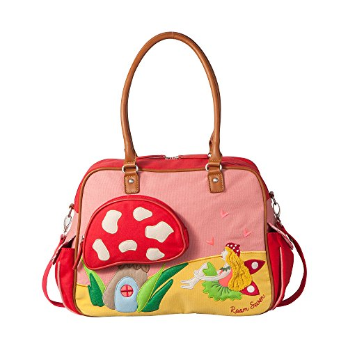 Room Seven BV Mädchen Wickeltasche Mädchenhandtasche, Mehrfarbig (Red), 40x30x14 cm
