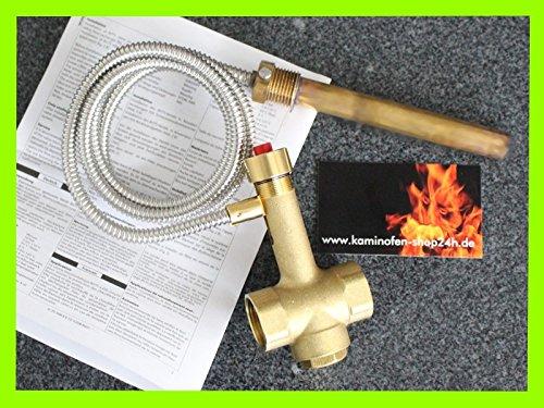 Thermische Ablaufsicherung 1,3m TAS Thermostatventil für Kaminofen/Kamineinsatz