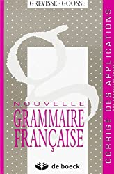 Nouvelle Grammaire française : corrigés