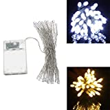 Moppi AA Battery Mini 10 LEDs Cool/Warm White Christmas String Fairy Lights