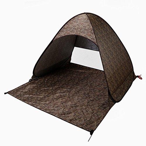 Poncherish Strandzelt, Pop-up,Outdoor Beach Tent Portable Wurfzelt,Leicht Automatik Strandmuschel mit Boden Sonnenschutz UV-Schutz, für Familien Aktivität, Outdoor, Strand(Leopard)