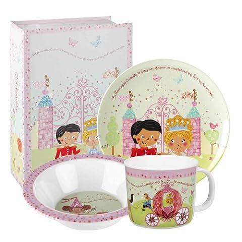 Little Rhymes Ensemble de vaisselle à petit-déjeuner en mélamine pour enfants 3 pièces Multicolore/motif Cendrillon