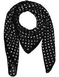 Superfreak® Baumwolltuch mit verschiedenen Sterne Muster ° Tuch ° Schal ° 100x100 cm ° 100% Baumwolle ° alle Farben!!!