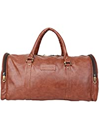 Willow & Smith Waterproof Leatherette Travel 30 Liter Duffle Sports Weekend Luggage Cabin Bag For Gym Men Women