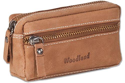 woodland-cuero-bolso-de-la-llave-con-2-llaveros-hecha-de-piel-de-ante-suave-sin-tratar-en-cognac