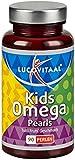 Omega 3 Kids - Omega 3 Fettsäuren mit leckerem Tutti-Frutti Geschmack (90 kleine Kapselperlen)