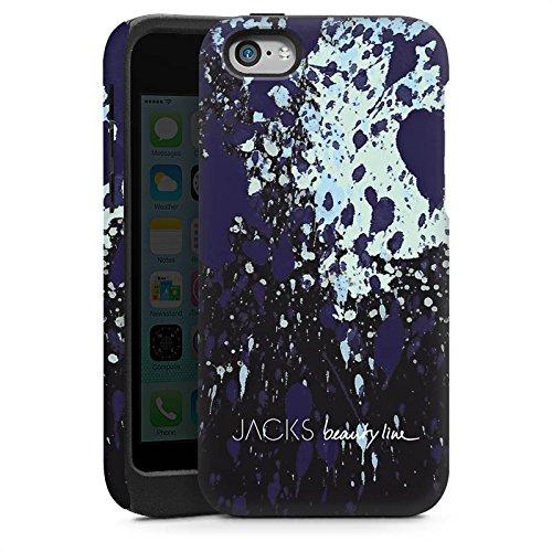Apple iPhone 5s Housse Étui Protection Coque Tache noire Tache de couleur Motif Cas Tough brillant