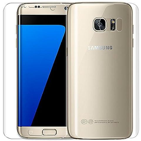 Samsung Galaxy S7 Edge Display Schutzfolie (Nicht Panzerglas),ONICO 3D Selbstheilung Vorder und Rückseite Schutzfolie Kompatibel mit Hülle Vollständige Abdeckung für Samsung Galaxy S7 Edge (Vorne &