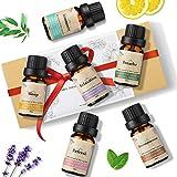 Janolia ätherisches Öle Set, Reines Natürliche Aromatherapie Duftöle Set für Diffuser Entspannung Schlaf verbessern,6x10ml