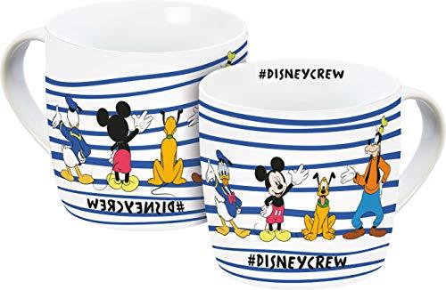 Disney Mickey Mouse 12075 Disneycrew Tasse, Porzellantasse, Kaffeetasse Porzellan 300 milliliters, Mehrfarbig